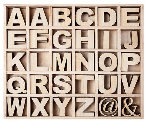 Zart - Wooden Alphabet Box