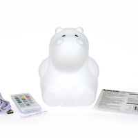 Kaper Kidz - Silicone Night Light Hippo