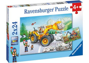 Ravensburger - Puzzle 2x24p Diggers at Work