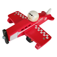 Toyslink - Wooden Airplane Red