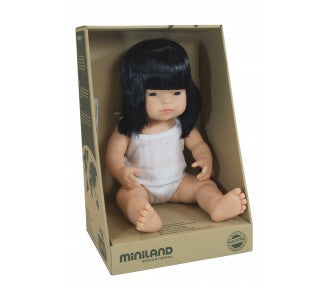 Miniland - Asian Girl 38cm Boxed