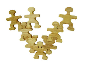 Qtoys - Wooden Balancing People Natural