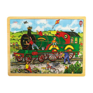 Bigjigs - Tray Puzzle Large 24 piece Train