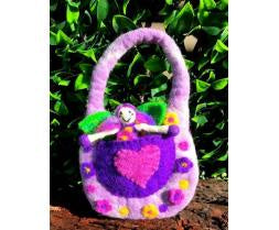 Himalayan Felt Co - Felt Bag Wonder Fairy Purple