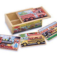 Melissa & Doug - Puzzles in a Box Vehicles