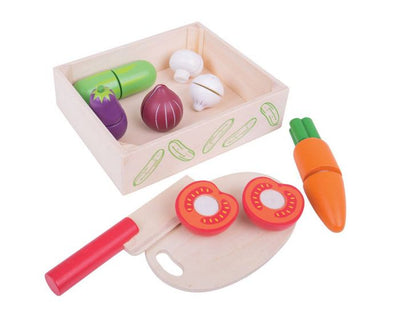 Bigjigs - Cutting Food Crate Veg