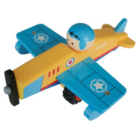 Toyslink - Wooden Airplane Blue
