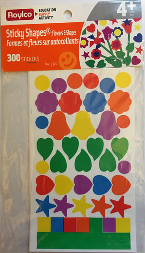 Roylco - Flowers & Shapes Stickers