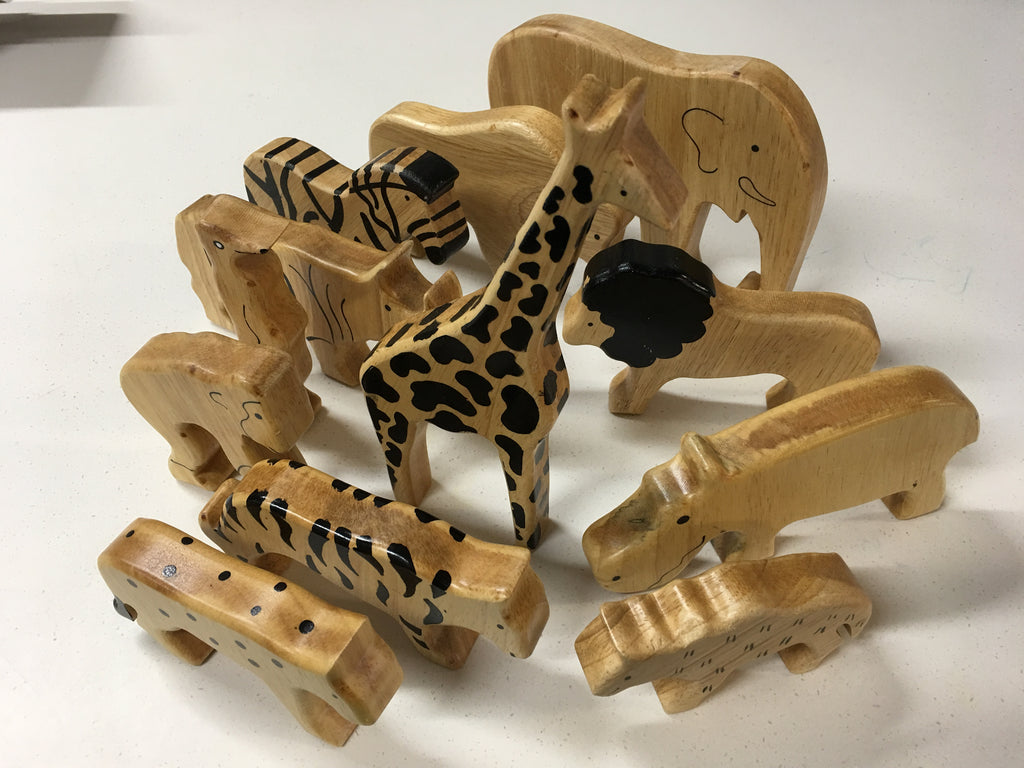 Sri Toys - Wooden Animals Natural Wild
