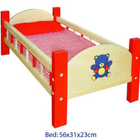 Viga - Dolls Bed Red with Bedding