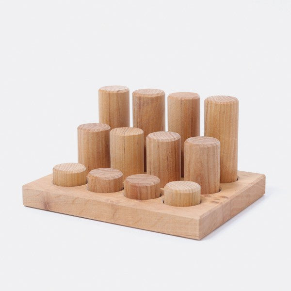 Grimm's - Stacking Game Small Rollers Natural