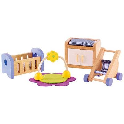 Hape - Dollhouse Furniture Baby Room