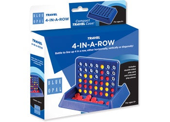 Blue Opal - Travel 4-In-A-Row Game
