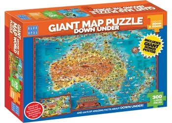 Blue Opal - Puzzle 300p Giant Map Down Under