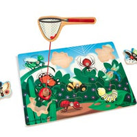 Melissa & Doug - Wooden Magnetic Puzzle Game Bug Catching