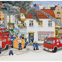 Ravensburger - Puzzle 2x24p With the Fire Brigade