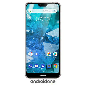 "Nokia 7.1 Android One, 64 GB, 12+5 MP Dual Camera, Dual SIM Unlocked Smartphone (AT&T/T-Mobile/MetroPCS/Cricket/H2O) - 5.84"" FHD+ HDR Screen - Steel - U.S. Warranty"
