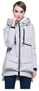 Orolay, Women's Waterproof Jacket, Thickened Down Jacket (M, Gray)