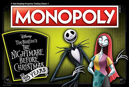 USAopoly Monopoly: The Nightmare Before Christmas 25 Years