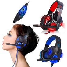Load image into Gallery viewer, Surround Stereo Gaming Headset Headband Headphone USB 3.5mm LED with Mic for PC