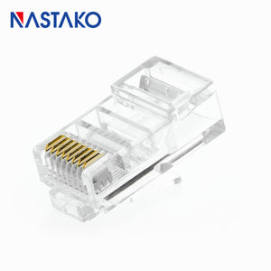 NASTAKO Cat5 Cat5e RJ45 Connector RJ45 Crystal Modular Plugs Cat 5 Ethernet UTP Network Cable 8pin RJ45 Connectors