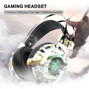 Cool LED USB Noise Reduction LED Light Changing Headset Over-Ear