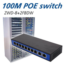 Load image into Gallery viewer, POE Switch POE Ethernet Switch Professional 8 PoE Injector RJ45 Home IP Phone Poe Network Switches Monitoring Network Camera