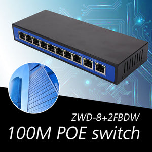 POE Switch POE Ethernet Switch Professional 8 PoE Injector RJ45 Home IP Phone Poe Network Switches Monitoring Network Camera