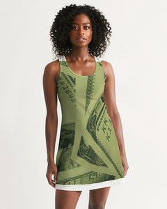its all about the money Women's Racerback Dress