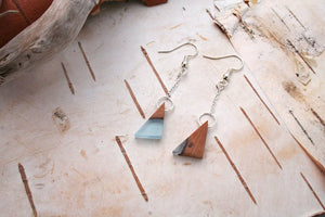 Geometric earrings - Lake inspired triangles