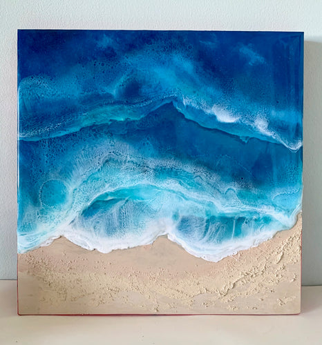 I dream of Maui - Mixed Media Ocean Panel