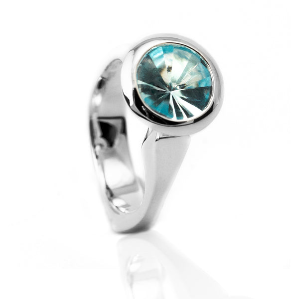 Sterling Silver Blue Topaz Muse Ring - DBR 060685BT