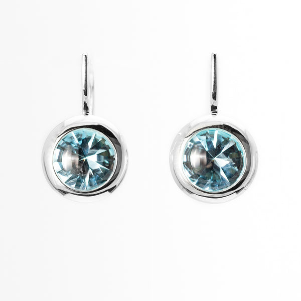 Sterling Silver Blue Topaz Muse Earrings - DBE 10688BT