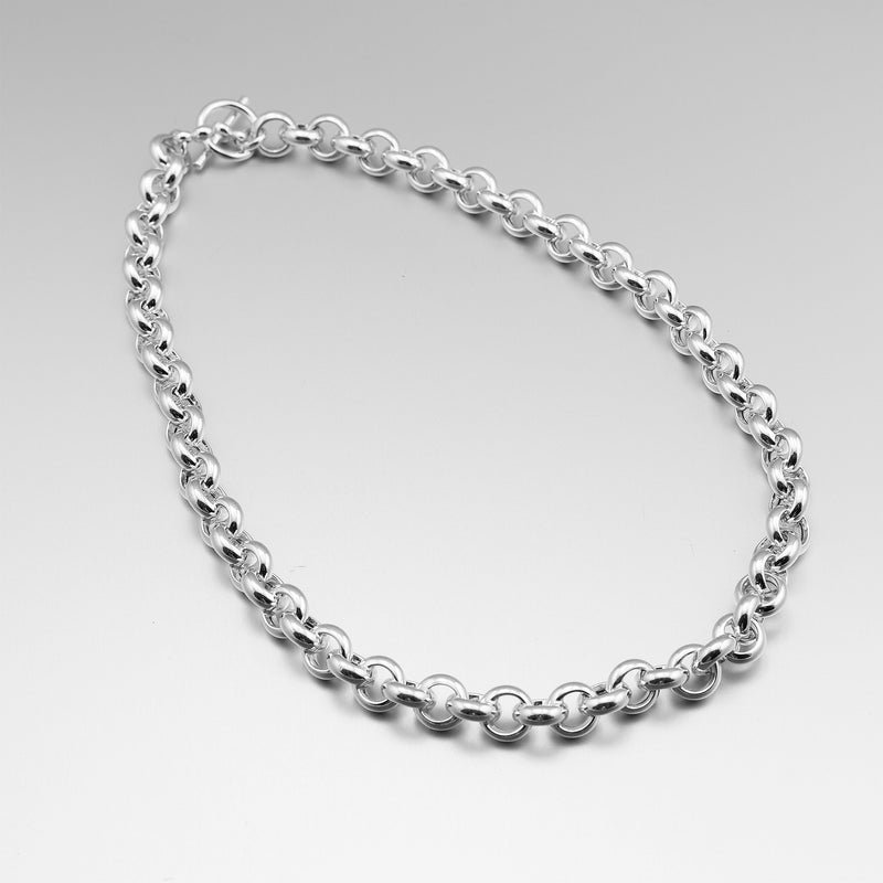 Sterling Silver Heavy Chain Necklace AIN-BLCO34