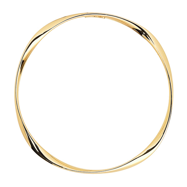 Silver Twist Yellow Gold Bangle NJB5134