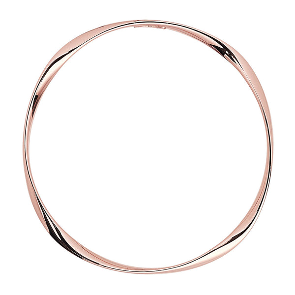 Silver Twist Rose Gold Bangle NJB5135