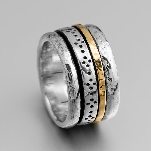 Silver Gold Spinner Ring ITR1265