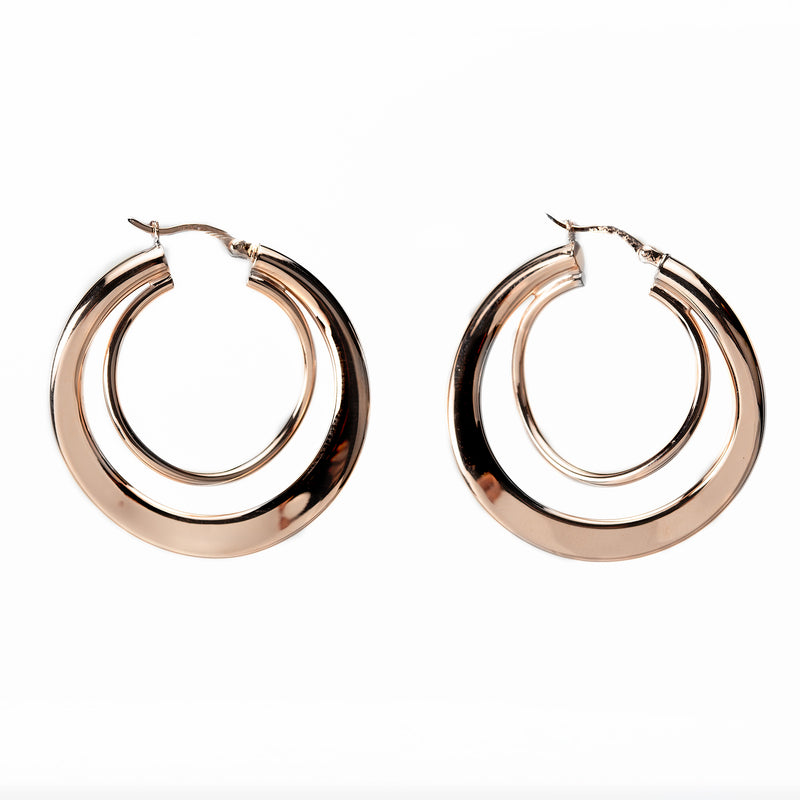 Rose Gold Freeform Hoops NJE2781