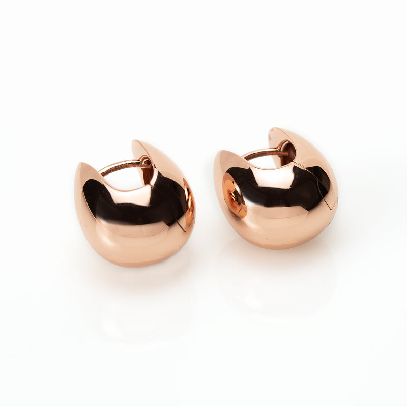 Rose Gold Balloon Huggie Earrings NJE5531