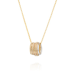 Gold Sterling Silver Wire Wrap Necklace ITN103
