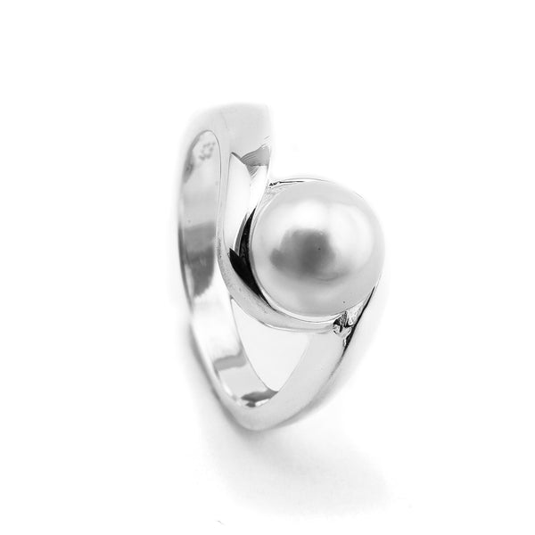 Pearl and Sterling Swirl Ring NT382-2226
