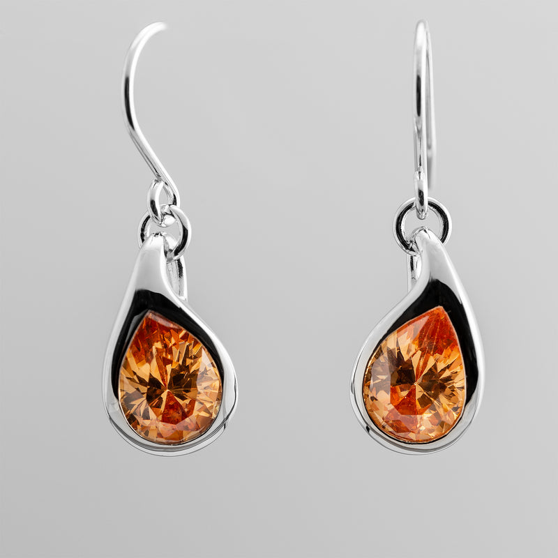 Citrine Teardrop Earrings OWE-12053