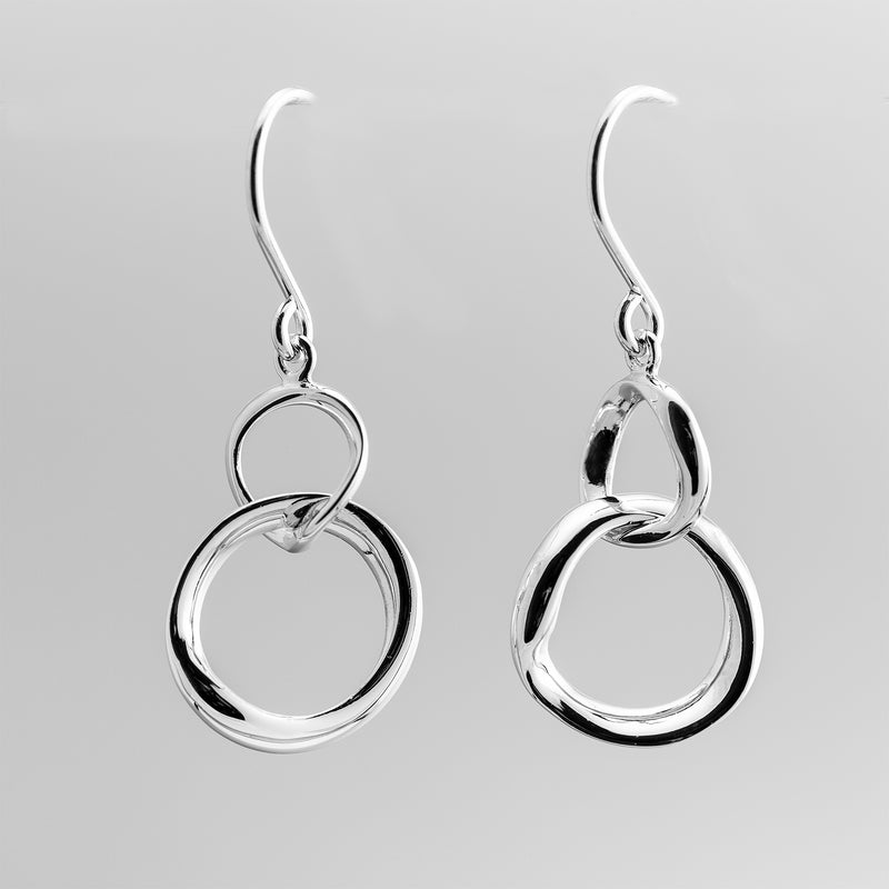 Linked Circle Drop Earrings OWE-12772