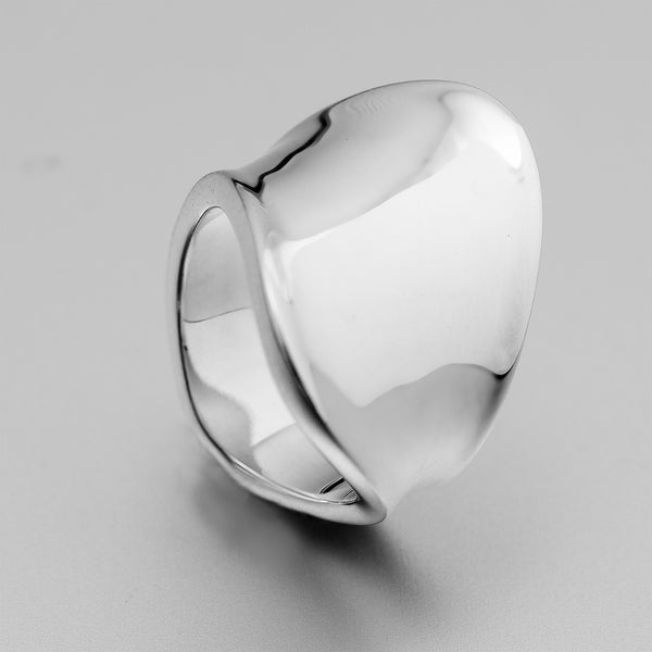 Sterling Silver Freeform Flare Ring OWR17405