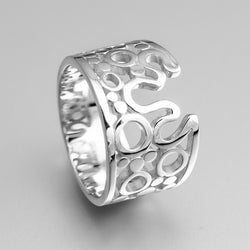 Sterling Silver Circle Ring OWR17782