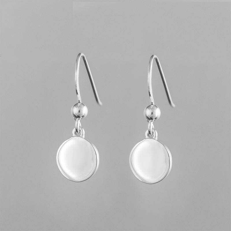 Sterling Silver Disc Drop Earrings SSE-SE1150