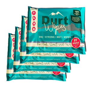 4 PACKS DurtWipes (3 + 1 FREE) 20 Wipes per pack (€6 per pack)