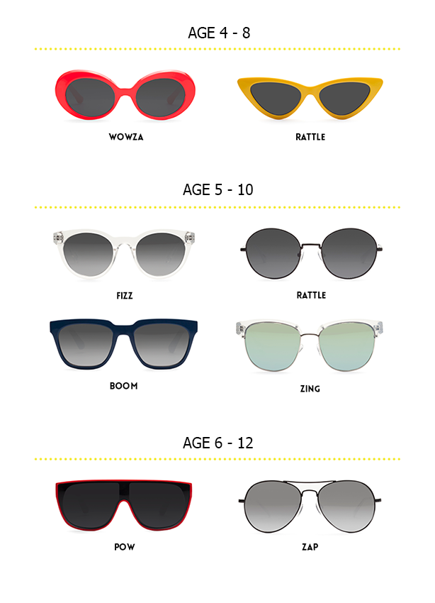 JUNiA Kids Sunglasses fit guide