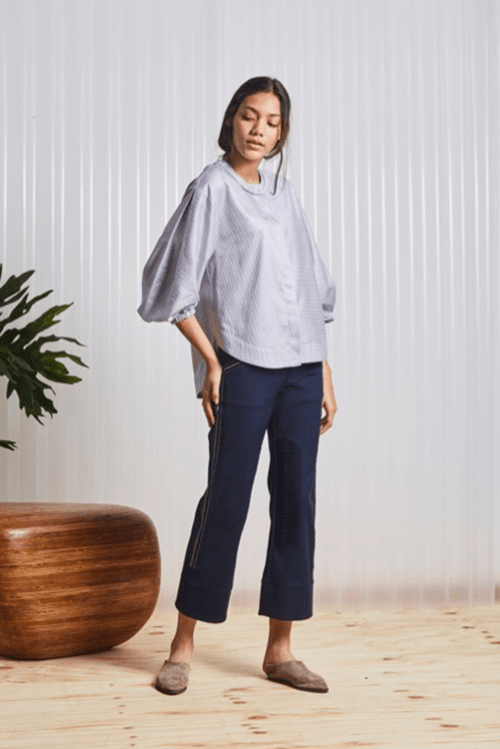 Isaura Grey Blouse