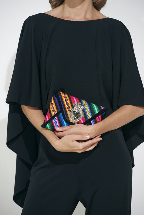 Small Black Base Milagro Clutch